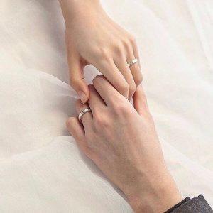 cincin couple emas putih