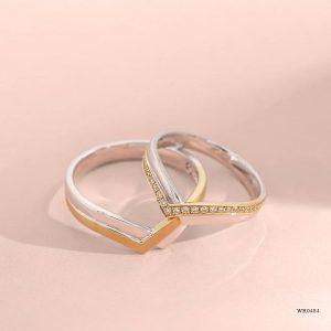 Perpaduan Cincin Nikah Dua Warna yang Cantik dan Menarik